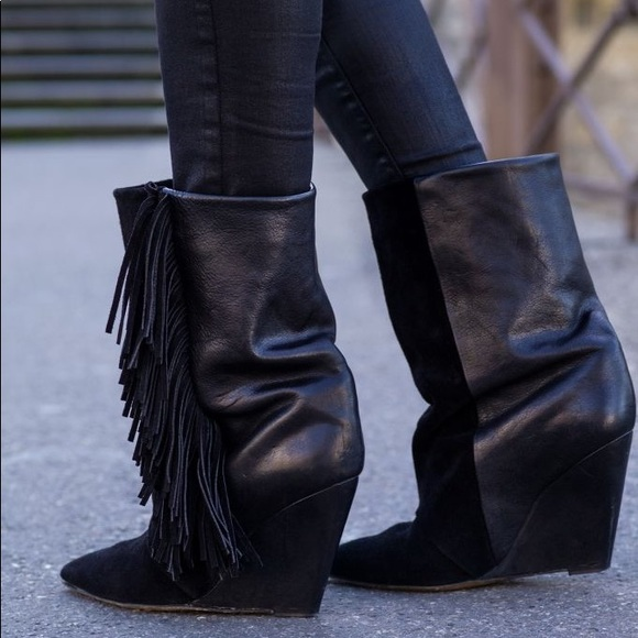 amazing price sale online Isabel Marant Fringed Mid-Calf Boots really sale online Wiqsv4dl